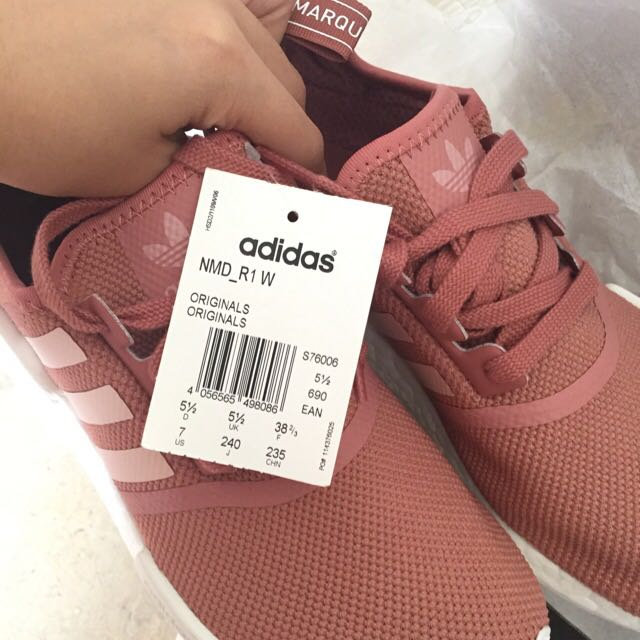 buy online 3cee6 058f8 NMD R1 ADIDAS Women's Raw Pink/ Salmon, Women's Fashion on ...