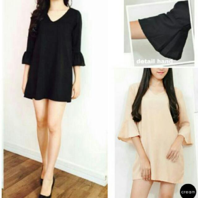 Oz Dress Wolly Crepe Fit. L