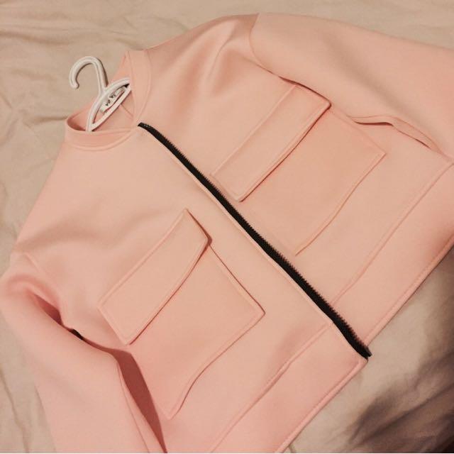 Pink Big Pocket Jacket