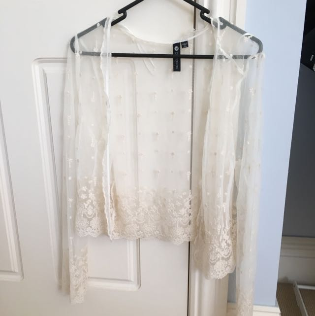 Sheer Lace Cardi Size M