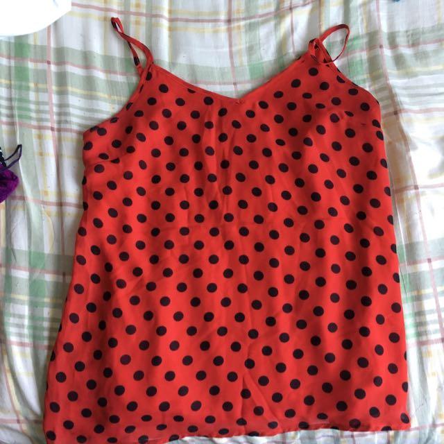 Suzy Shier Polka Dot Shirt
