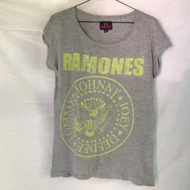 The Ramones Grey Shirt Size 10