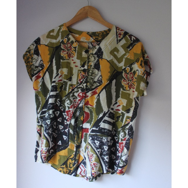 Vintage Button Up T-shirt