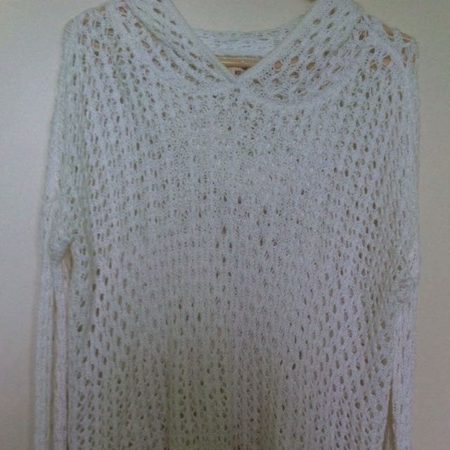 White Hollister Sweater