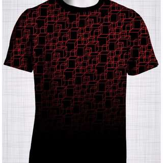 Plus Size Men's Clothing Red Cubes t-shirt FF0055