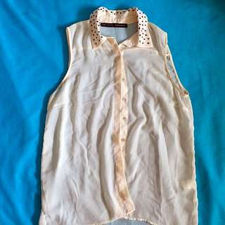 Zara Sleeveless Button Up