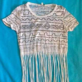 Urban Outfitters Tassel Crop