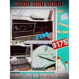 TV Console Leather Sofa Bean Bag