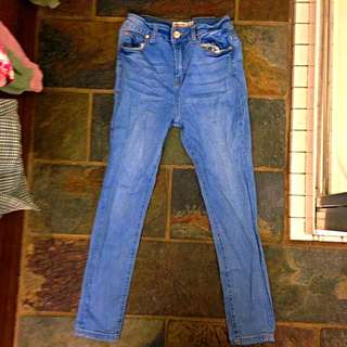 Blue High Wasted Jeans