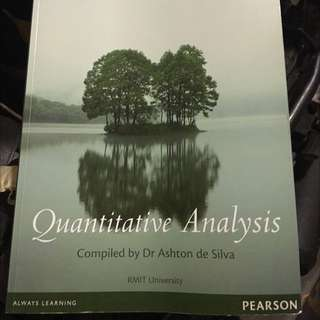 Quantitative Analysis RMIT