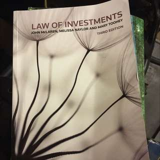 Law Of Investment RMIT