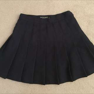American Apparel Tennis Skirt - Navy, Size M