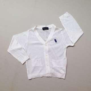 (LD 30cm) Cardigan Anak - Putih