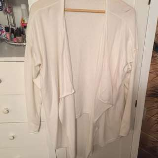 Long Sleeve White Throw Over