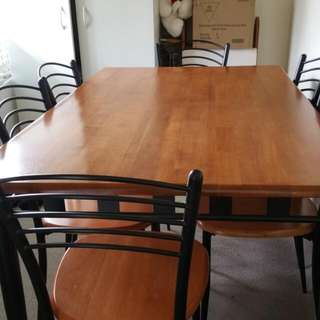Dining 6 Chair Set. Price Nego.