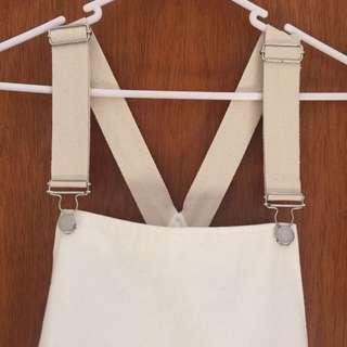 skirt overalls white, general pants co.