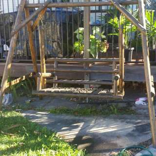 One Of A Kind GARDEN SWING WOOD CHAIR