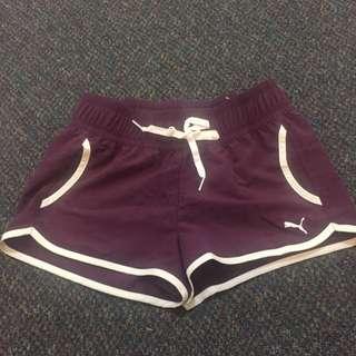 puma violet short, tag was removed