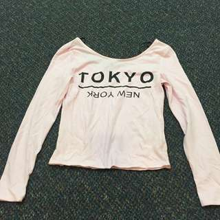 H&M pink logsleeves, tag was removed