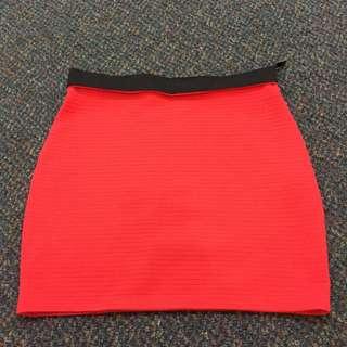 Splash orange mini skirt used once