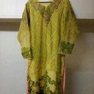 Three Piece Chiffon Dress Stiched