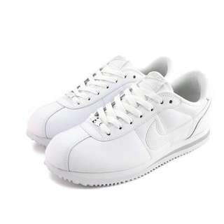 Nike cortez 全白皮革阿甘