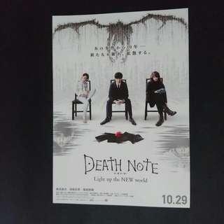 Death Note Movie Flyer ( Chirashi)