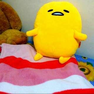 全新。蛋黃哥抱枕+培根毛毯