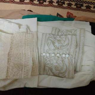Embrioded Cigrette Pants