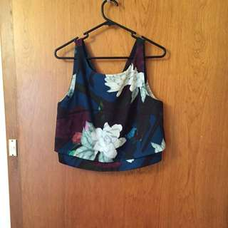 Portmans Floral Sleeveless Shell Top