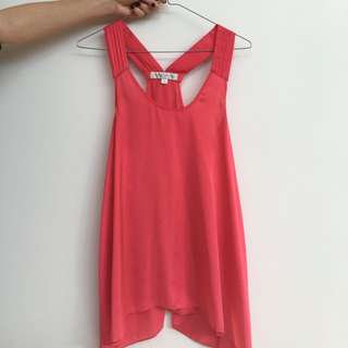 Forever New Red/Pink  Size 6 Top