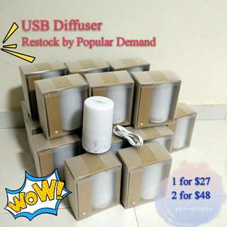 [Back by Popular Demand!] MUJI-liked USB mini Humidifier (Get Discount with Young Living (YL) Essential Oil purchased)