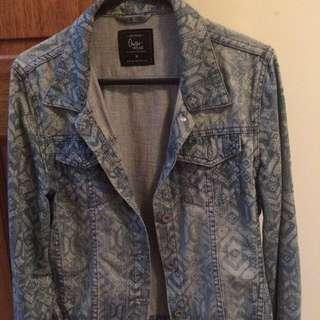 Patterned Denim Jacket