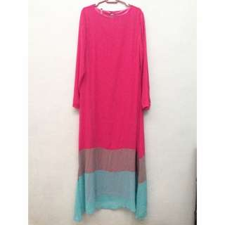 Three Layer Colour Jubah