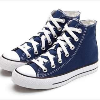 Lativ帆布鞋-藏青