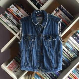 Pull & Bear Sleeveless Jeans Shirt