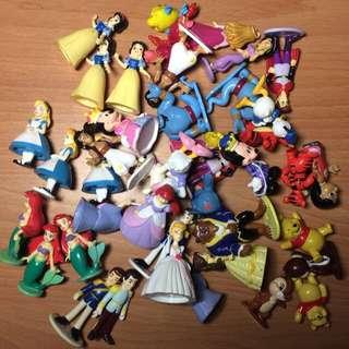 Tony 迪士尼人物角色盒拆出的小公仔們