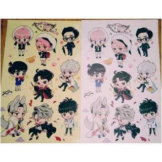 EXO 手繪 貼紙