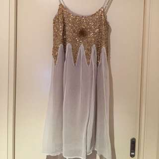 Gorgeous Detailed Cream Dress Size 10