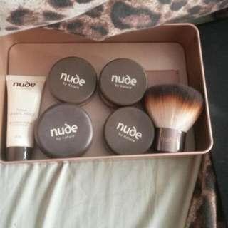 Nude makeup.