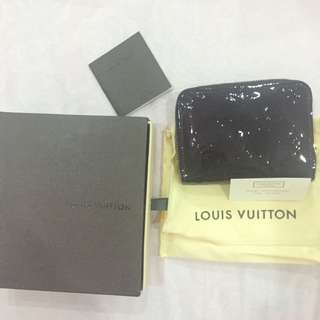 LV Monogram Vernis Zip Wallet