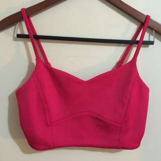 Hot Pink Crop