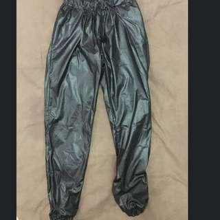 New Black Joger Jegging Pants Latex Murah