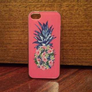 Pink Clear Pineapple iPhone 5 Case