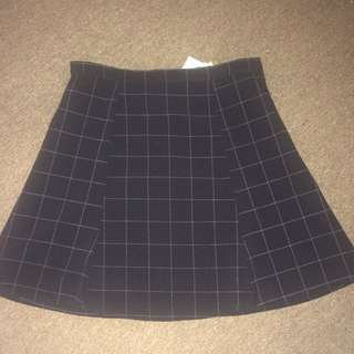 Authentic American Apparel Lulu Grid Skirt