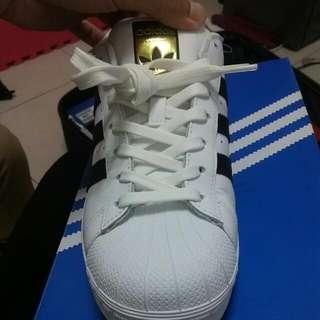 Adidas superstar金標全新含吊正品