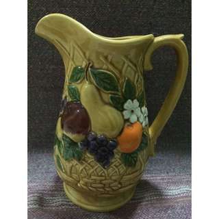Ceramic  Jug with 6 ceramic glass handle