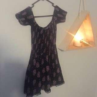 Mehndi Design Off Shoulder Dress