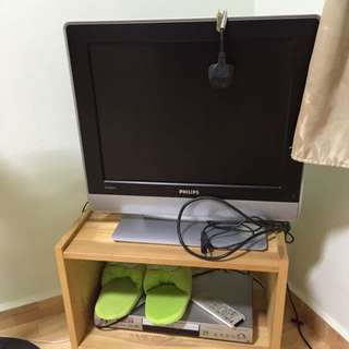 Philips TV and Pioneer DVD Player
