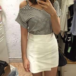 正韓造型包臀 短裙 綠色M